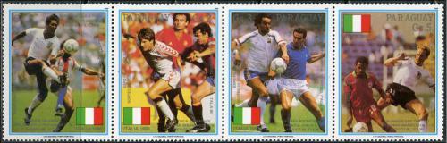 Poštovní známky Paraguay 1989 MS ve fotbale Mi# 4434-37 Kat 6€