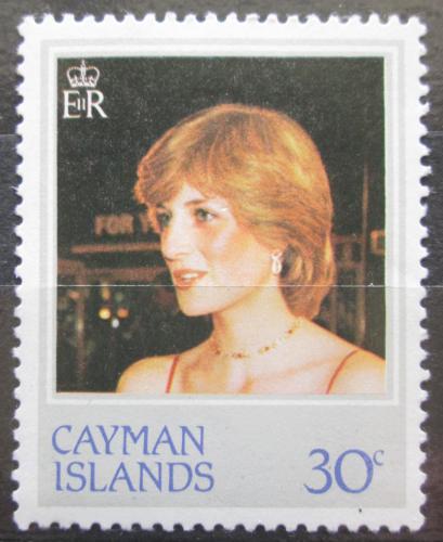 Poštovní známka Kajmanské ostrovy 1982 Princezna Diana Mi# 491