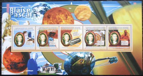 Poštovní známky Guinea 2009 Blaise Pascal, matematik Mi# 6624-28 Kat 13€