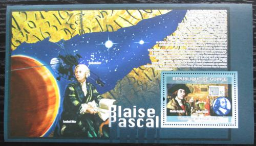 Poštovní známka Guinea 2009 Blaise Pascal, matematik Mi# Block 1696 Kat 11€