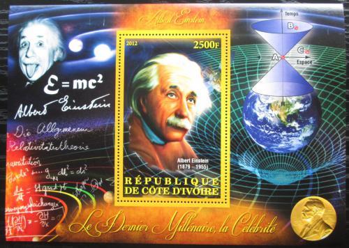 Poštovní známka Pobøeží Slonoviny 2012 Albert Einstein Mi# N/N