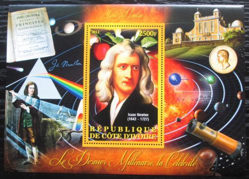 Poštovní známka Pobøeží Slonoviny 2012 Isaac Newton Mi# N/N