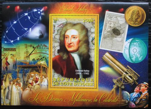 Poštovní známka Pobøeží Slonoviny 2012 Edmond Halley Mi# N/N