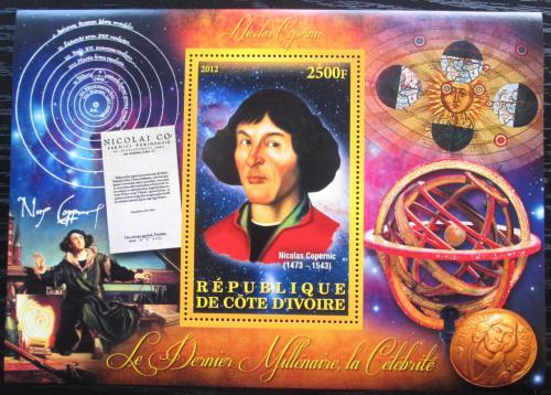 Poštovní známka Pobøeží Slonoviny 2012 Mikuláš Kopernik Mi# N/N