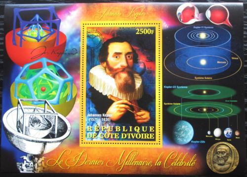 Poštovní známka Pobøeží Slonoviny 2012 Johannes Kepler Mi# N/N