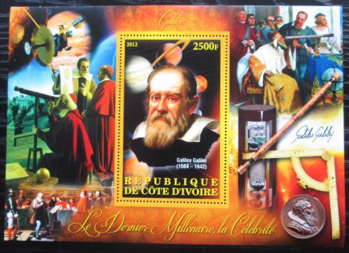 Poštovní známka Pobøeží Slonoviny 2012 Galileo Galilei Mi# N/N