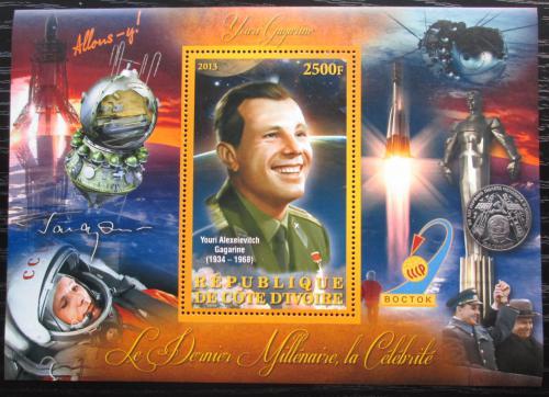Poštovní známka Pobøeží Slonoviny 2012 Jurij Gagarin Mi# N/N