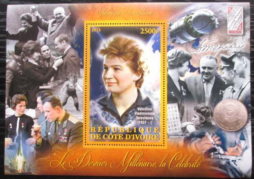 Poštovní známka Pobøeží Slonoviny 2012 Valentina Tìreškovová Mi# N/N