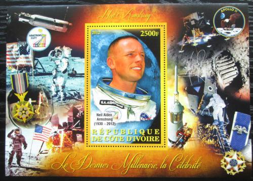 Poštovní známka Pobøeží Slonoviny 2012 Neil Armstrong Mi# N/N