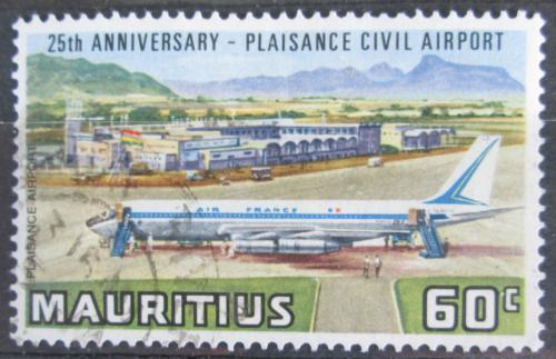 Poštovní známka Mauricius 1971 Boeing 707 na letišti Mi# 378