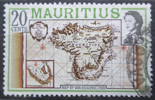 Poštovní známka Mauricius 1978 Mapa Mi# 438 I X A