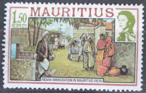 Poštovní známka Mauricius 1978 Pøistìhovalci z Indie Mi# 449 I X A