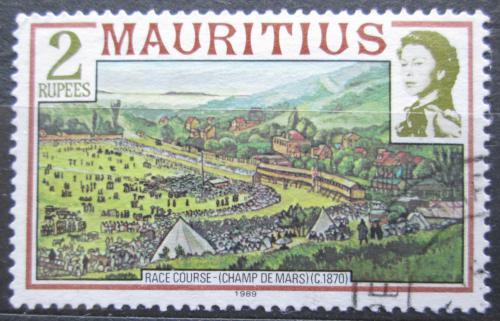 Poštovní známka Mauricius 1989 Jezdci na koních Mi# 450 II X A