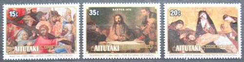 Poštovní známky Aitutaki 1978 Velikonoce, umìní Mi# 289-91