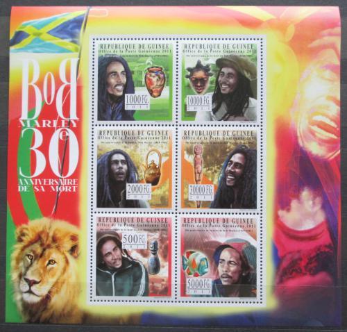Poštovní známky Guinea 2011 Bob Marley Mi# 8737-42 Kat 19€