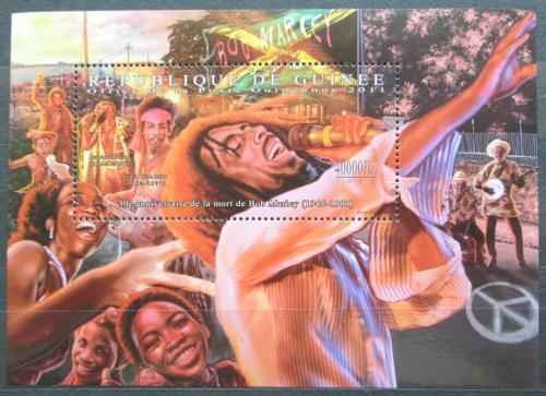 Poštovní známka Guinea 2011 Bob Marley Mi# Block 2004 Kat 16€