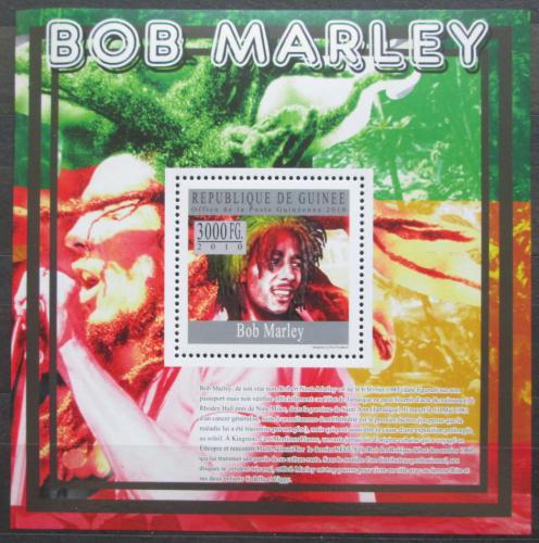 Poštovní známka Guinea 2010 Bob Marley Mi# Block 1810 Kat 10€