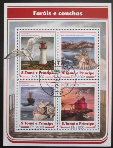 Poštovní známky Svatý Tomáš 2017 Majáky a mušle Mi# 7033-36 Kat 12€