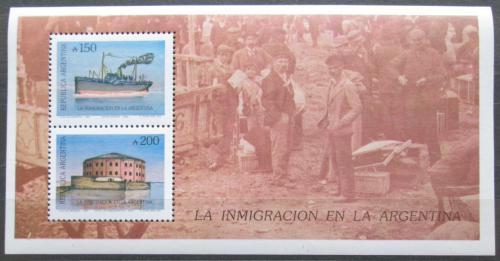 Poštovní známky Argentina 1989 Imigrace do Argentiny Mi# Block 39