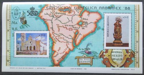 Poštovní známky Argentina 1988 Výstava ARBRAFEX Mi# Block 37