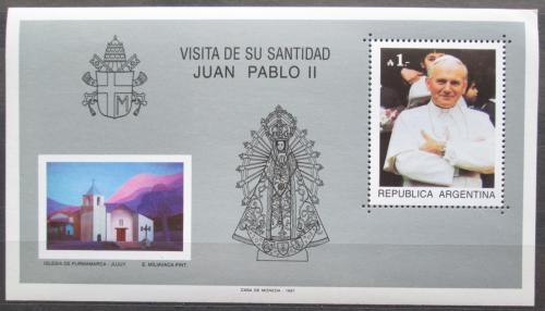 Poštovní známky Argentina 1987 Návštìva papeže Jana Pavla II. Mi# Block 34