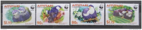 Poštovní známky Aitutaki 2002 Papoušci, WWF Mi# 772-75