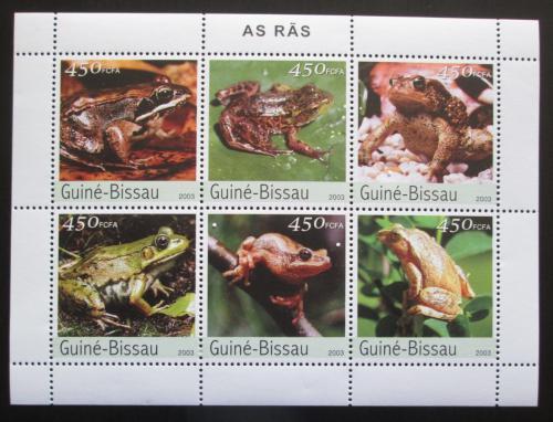 Poštovní známky Guinea-Bissau 2003 Žáby Mi# 2458-63 Kat 11€