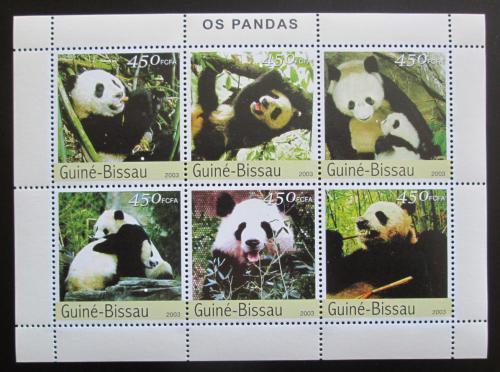 Poštovní známky Guinea-Bissau 2003 Pandy Mi# 2590-95 Kat 11€