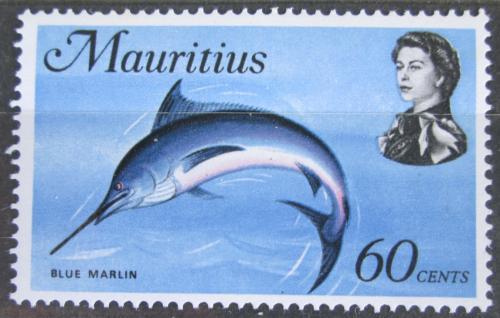 Poštovní známka Mauricius 1969 Marlín modrý Mi# 343