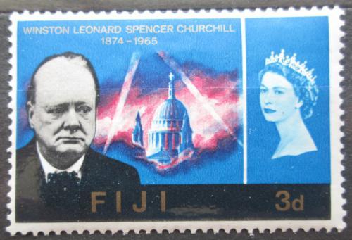 Poštovní známka Fidži 1966 Winston Churchill Mi# 187