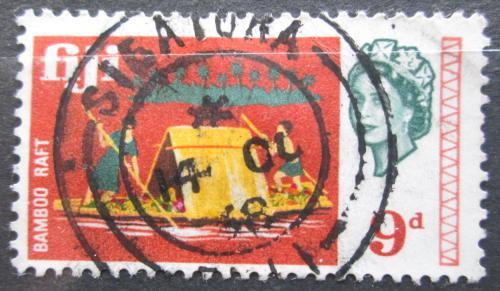 Poštovní známka Fidži 1968 Vor z bambusu Mi# 218