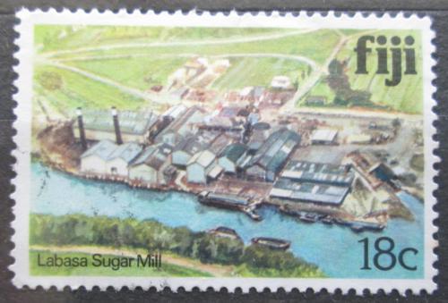 Poštovní známka Fidži 1980 Závod na zpracování cukrové tøtiny Mi# 407 I
