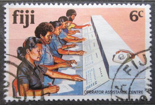 Poštovní známka Fidži 1981 Telefonní centrála Mi# 439