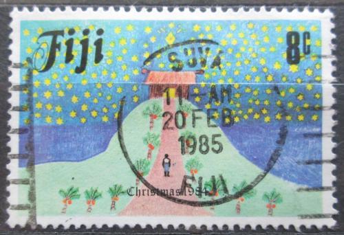 Poštovní známka Fidži 1984 Vánoce, dìtská kresba Mi# 512