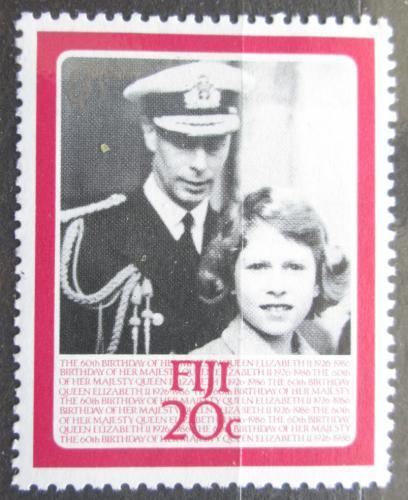 Poštovní známka Fidži 1986 Královna Alžbìta II. Mi# 538