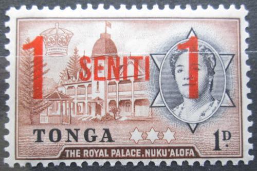 Poštovní známka Tonga 1968 Královský palác pøetisk Mi# 227