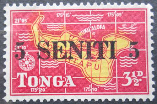 Poštovní známka Tonga 1967 Mapa pøetisk Mi# 188