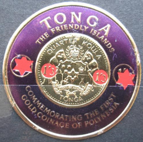 Poštovní známka Tonga 1965 Státní znak pøetisk Mi# 150