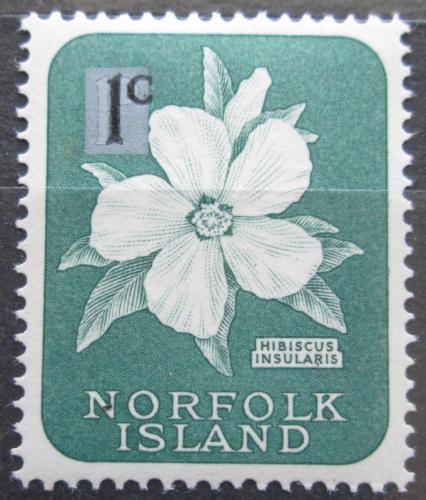 Poštovní známka Norfolk 1966 Ibišek pøetisk Mi# 62 I