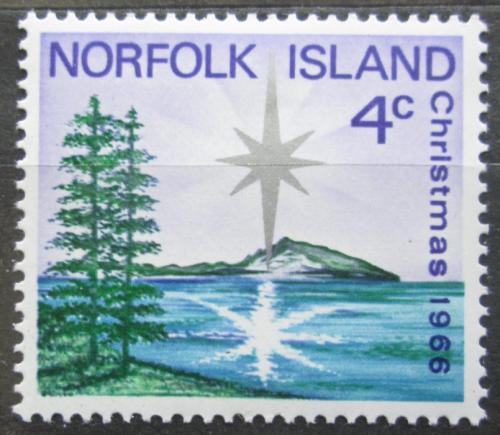 Poštovní známka Norfolk 1966 Vánoce Mi# 78