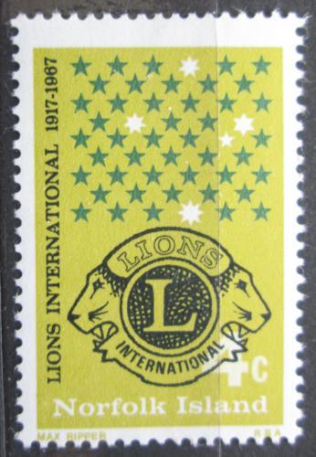 Poštovní známka Norfolk 1967 Lions Intl., 50. výroèí Mi# 93