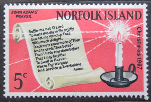 Poštovní známka Norfolk 1967 Vánoce Mi# 94