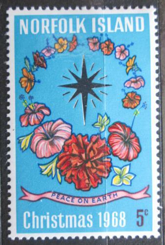 Poštovní známka Norfolk 1968 Vánoce Mi# 100