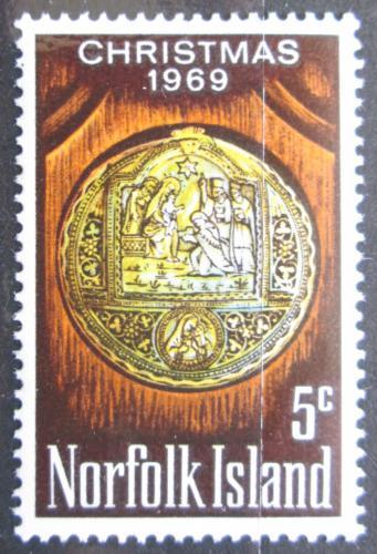 Poštovní známka Norfolk 1969 Vánoce Mi# 104