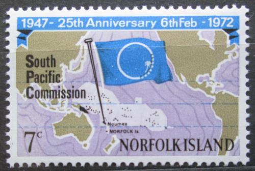 Poštovní známka Norfolk 1972 Jihopacifická komise, 25. výroèí Mi# 129