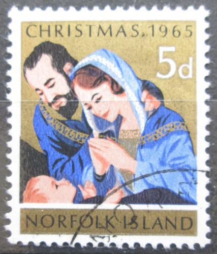 Poštovní známka Norfolk 1965 Vánoce Mi# 61