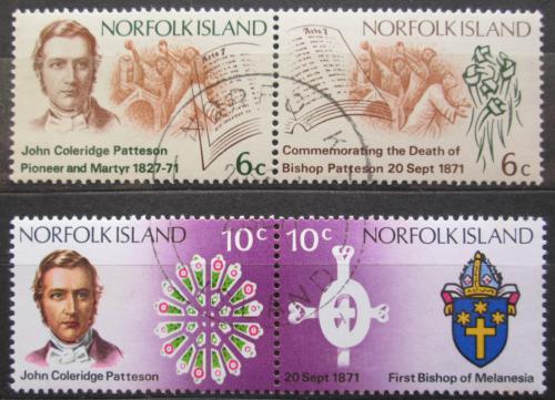 Poštovní známky Norfolk 1971 Biskup Patteson Mi# 124-27