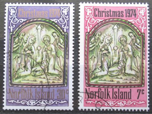 Poštovní známky Norfolk 1974 Vánoce Mi# 158-59