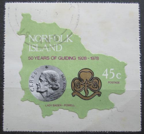 Poštovní známka Norfolk 1978 Skautské hnutí, 50. výroèí Mi# 211