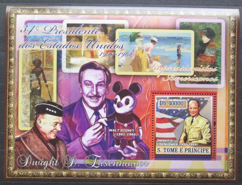 Poštovní známka Svatý Tomáš 2007 Prezident Eisenhower Mi# Block 583 Kat 11€